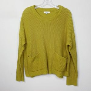 Madewell Patch Pocket Pullover Sweater Large
